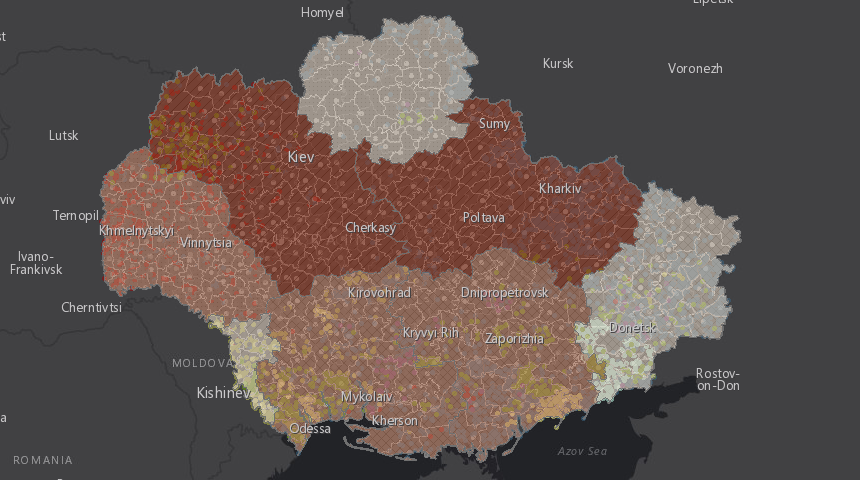 Карта голодомору в Україні