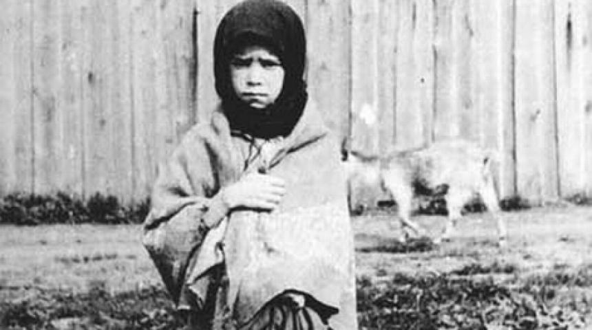 Чорно-біле фото дитини