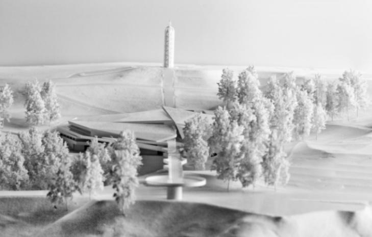 Проект музею, загальний вигляд у зимову пору