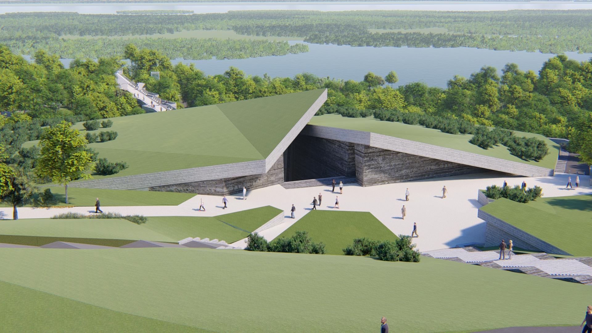 Проект майбутнього музею на схилах Дніпра