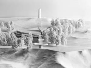 Проект музею взимку, вигляд здалеку